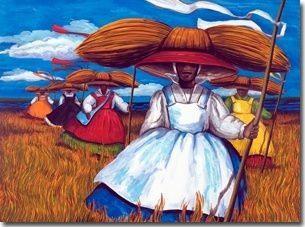722c5cfa075efa88e3f7d79e741dcd36 16 Images of Black Sisterhood Through Gullah Art