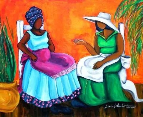 e4991d040629ce0e1205c17fde11e91c-480x394 16 Images of Black Sisterhood Through Gullah Art