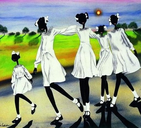 e6fc422f9726d634e805c416cf1a57c8-480x435 16 Images of Black Sisterhood Through Gullah Art