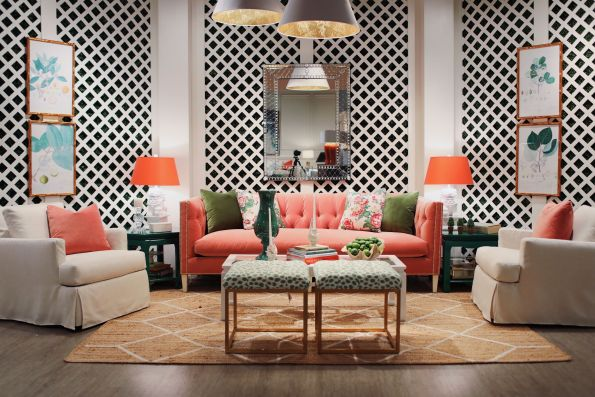 ROWE_HPMKTApril18-13-595x397 AKA Home Decor Inspiration: Pink and Green Style