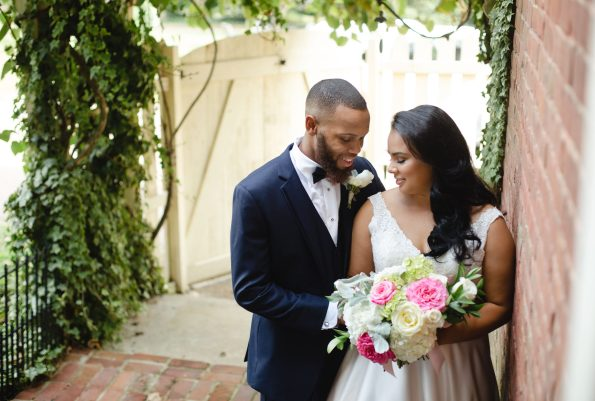 AbreaCrackel_14-595x401 Pink and Blush Southern Wedding Inspiration