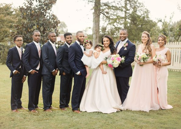 AbreaCrackel_17-595x423 Pink and Blush Southern Wedding Inspiration