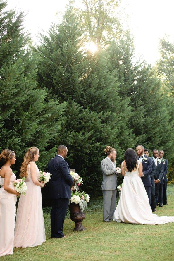 AbreaCrackel_21-595x892 Pink and Blush Southern Wedding Inspiration