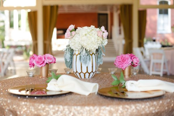 AbreaCrackel_27-595x397 Pink and Blush Southern Wedding Inspiration