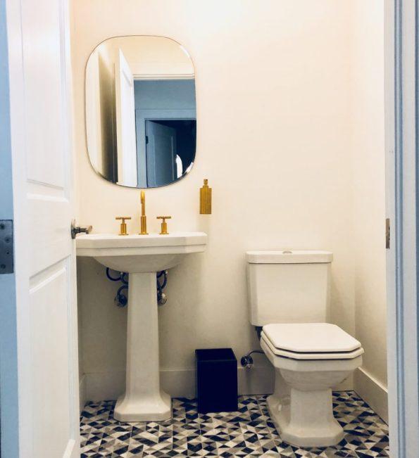 LOBBY-BATHROOMS-595x651 Designer Tour: Black-Owned Hotel in Miami - The Copper Door B&B
