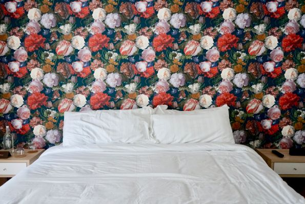 ROOM-8-595x397 Designer Tour: Black-Owned Hotel in Miami - The Copper Door B&B