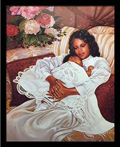 US-Art-My-Angel-Mother-Child-Katherine-Roundtree-24x30-Black-Framed-African-American-Black-Art-Print-Wall-Decor-Poster Black Art from Katherine Roundtree We Love