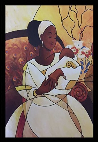 US-Art-Sweet-Lullaby-Mother-Child-Katherine-Roundtree-24x36-Black-Framed-African-American-Black-Art-Print-Wall-Decor-Poster- Black Art from Katherine Roundtree We Love