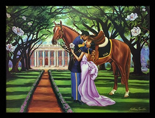 US-Art-The-Goodbye-Kiss-Buffalo-Soldier-Katherine-Roundtree-24x32-Black-Framed-African-American-Black-Art-Print-Wall-Decor-Poster-9E2 Black Art from Katherine Roundtree We Love