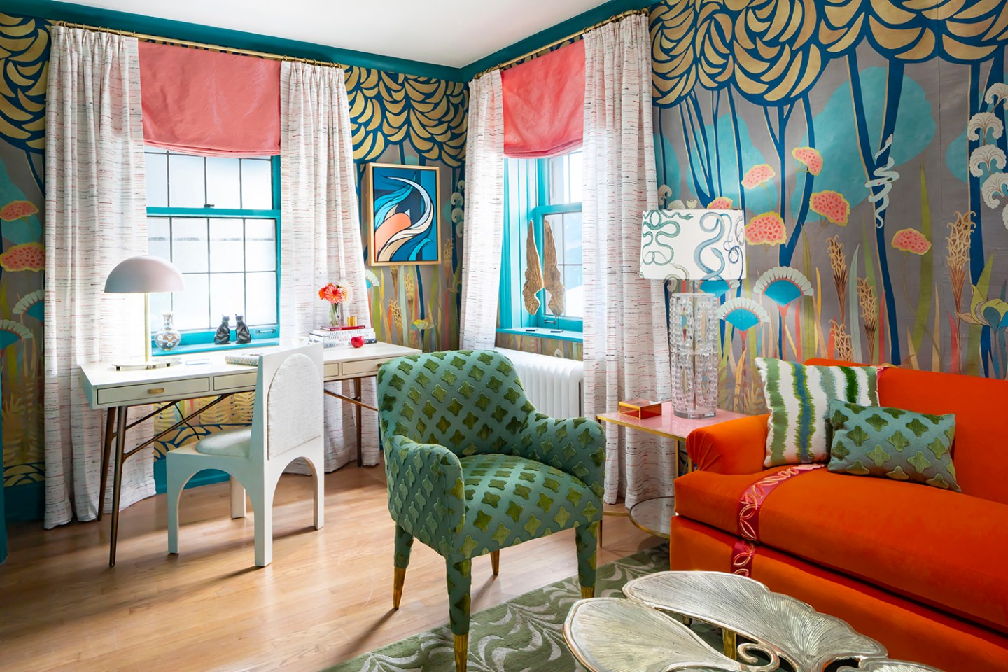 Courtney-McLeod-RMLID-JL-Showhouse_01 Tips for Adding Color and Pattern to a Roomfrom a Louisiana Native