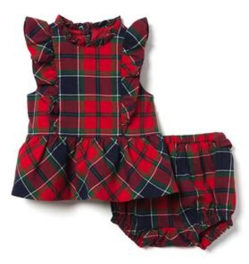 Plaid_Romper Baby Christmas Outfits We Adore