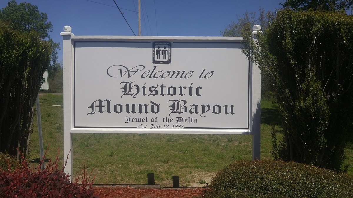 1200px-WelcomeToMoundBayouSign-1 Historic African American Townships in the South to Visit