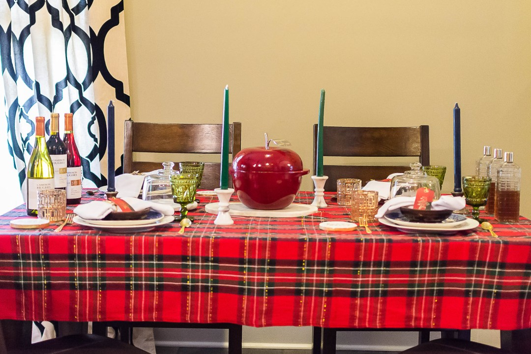 DSC_4394 Plaid Holiday Inspiration - Christmas Dinner Party Fun