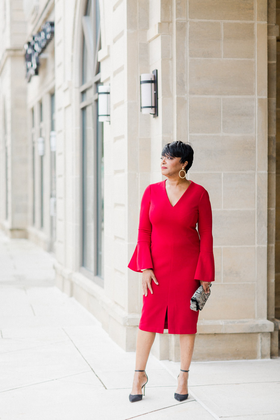 Maggy-London-Red-Dress Holiday  Entertaining Tips from Black Southern Belle Tastemakers
