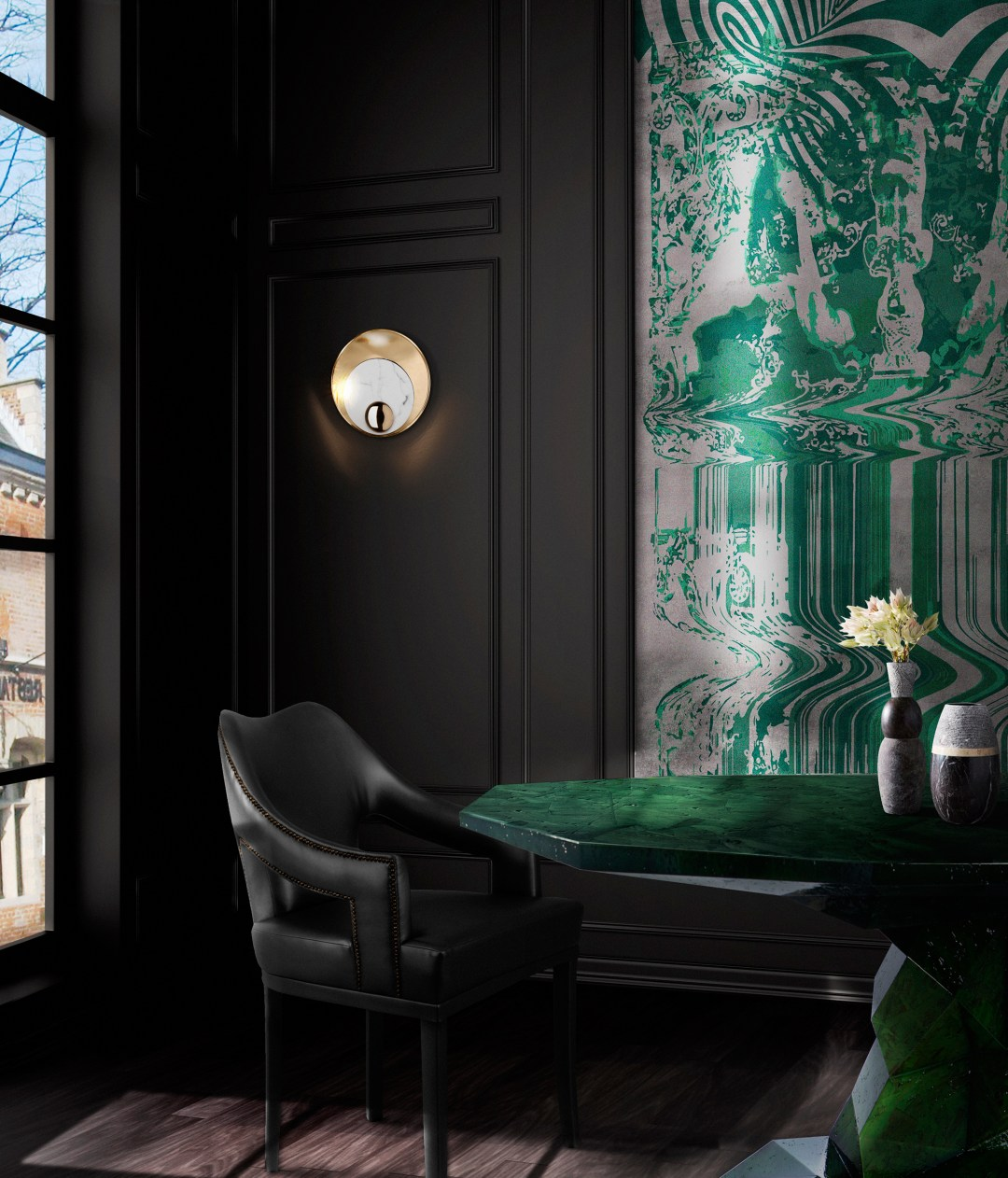 Brabbu-Design-Forces-N20-black-Dining-Chair-combined-with-wallpaper-Green-details-1795242-1440x1683 Inspired By Nature: How to Add Green to Your Home