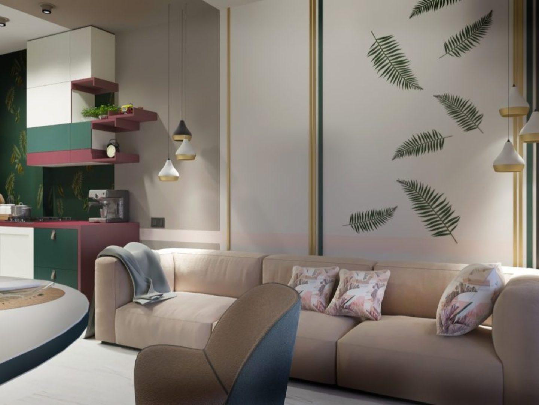 DelightFULL_3022502_GreenandPinkLivingroomwallpape.jpg-1440x1080 Pink and Green Rooms We Adore - Alpha Kappa Alpha Decor