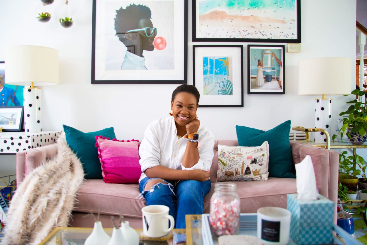 Black Southern Belle Blogger Home Tour: Preppy Home  Style in Raleigh, NC