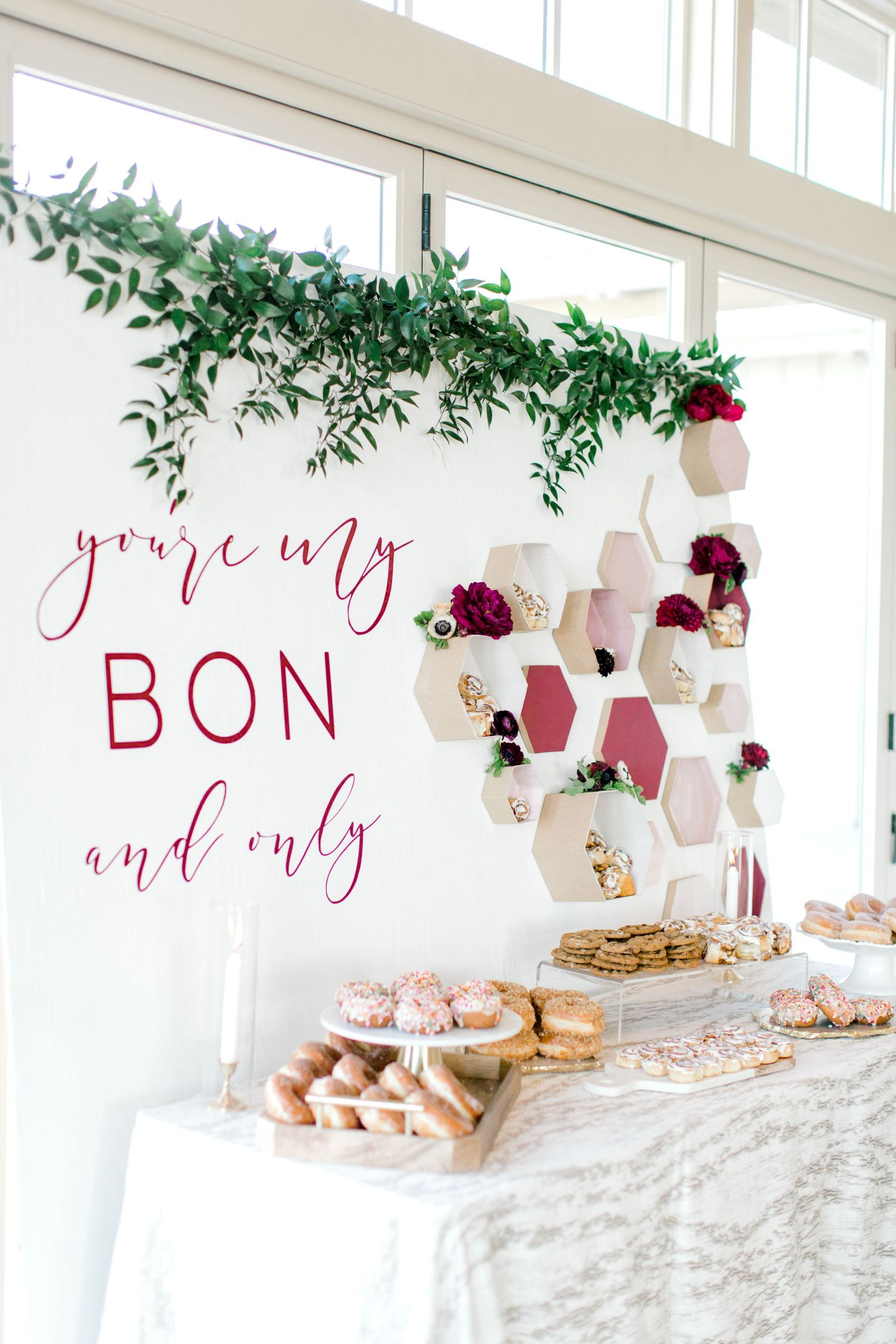 PineandSea_HuberWedding_ReceptionDetails-106-1440x2160 Spring Wedding Inspiration: How to Host a Dessert Bar with Cinnabon