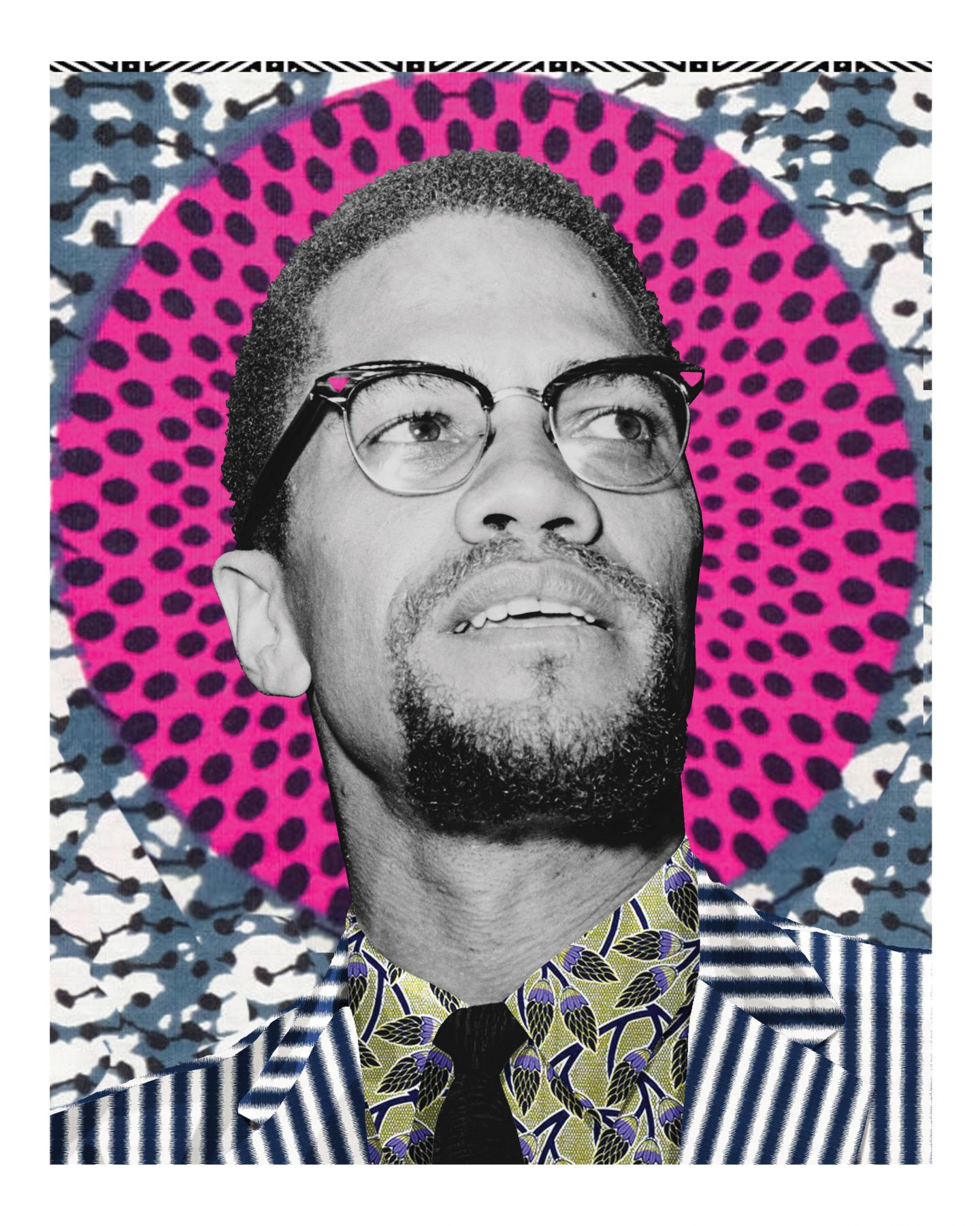 Original-El-Hajj-Malik-El-Shabazz-Malcolm-X-by-Makeba-KEEBS-Rainey_noframe-1440x1801 Makeeba KEEBS Rainey Art Featured in Absolut Art