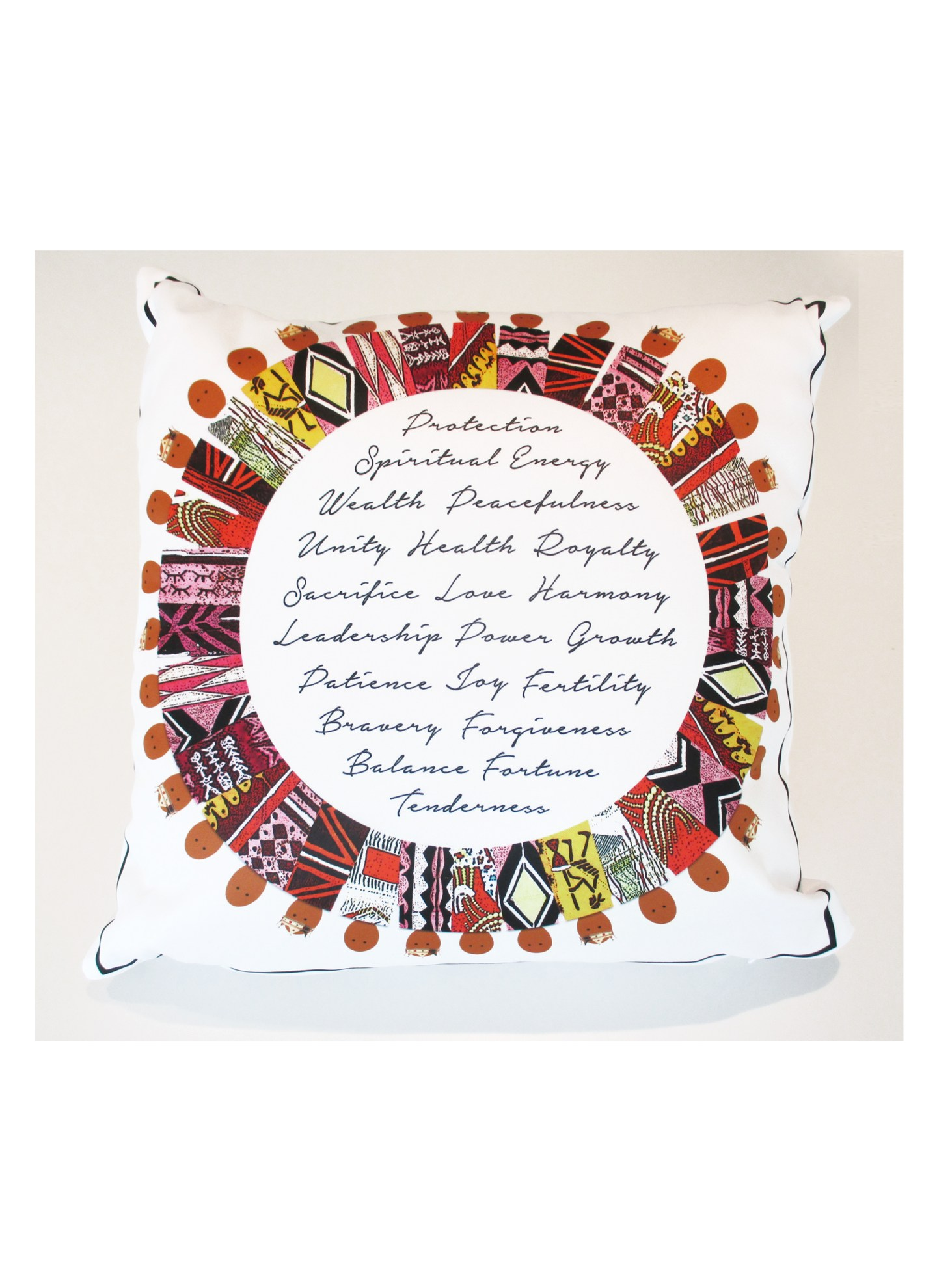 Pillow-Round-Linda-Nesbit-Floria-1440x1980 Black Owned Giftware Line is  Inspired By Culture, Spirituality, and People