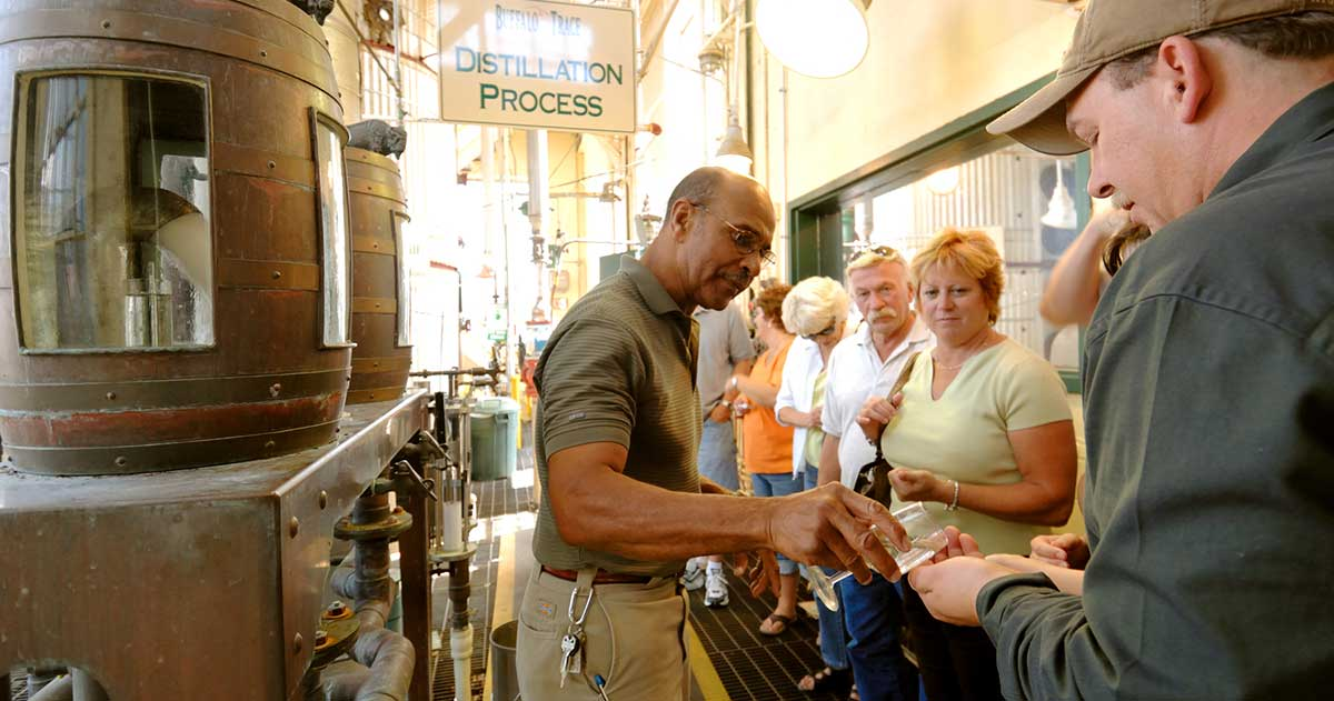 Freddie-Johnson-at-Buffalo-Trace_Credit-Bourbon-and-Banter Celebrating Bourbon Heritage Month Through Black Heritage: A Few People to Know and Places to Go in Kentucky