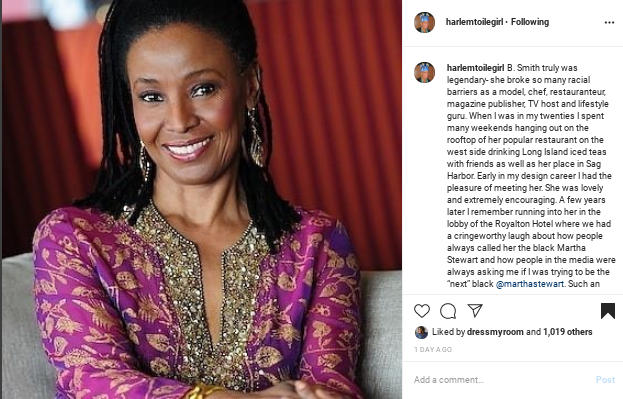 Screenshot-2020-02-25-at-12.01.53-AM In Honor of B. Smith: 10 Instagram Tributes to the Ultimate Hostess