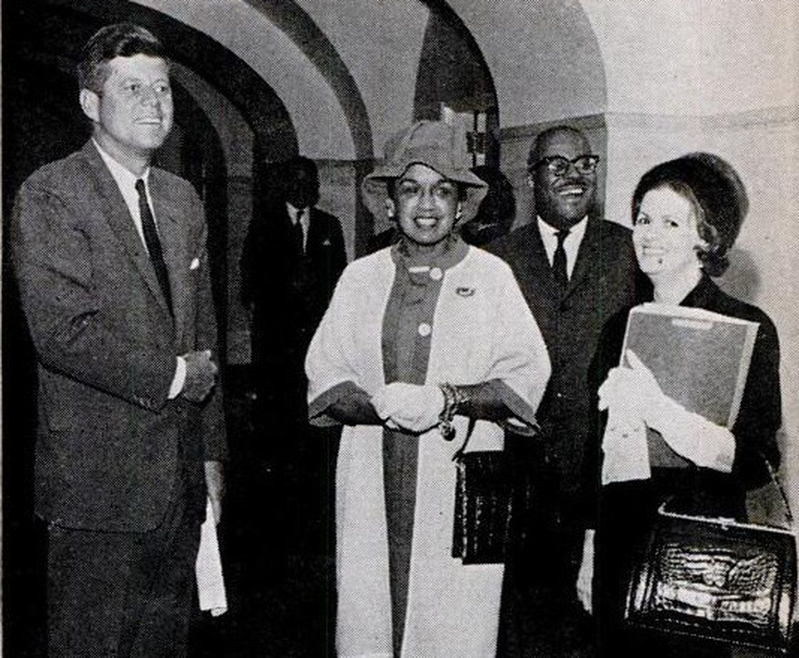 Freda-DeKnight-with-JFK Black Women and Our Legacy of Making Others Feel Comfortable in our Homes