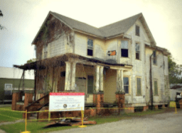 Home of Dr. Lowery in Donaldsonville, Louisiana.