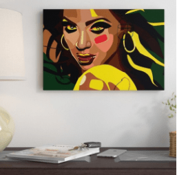 'Beyonce' Graphic Art Print on Wrapped Canvas Size: 18″ H x 26″ W x 1.5″ D