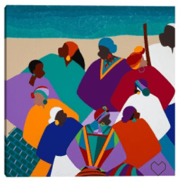 RING SHOUT GULLAH ISLANDS – UNFRAMED PRINT ON CANVAS WORLD MENAGERIE