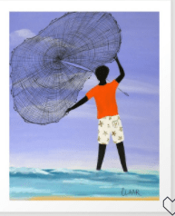 MY KIND OF NET ART PRINT BY GULLAH LIVING SERIES BY SAMANTHA CLAAR – X-LARGE