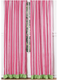 Sweet Jojo Designs Pink, Green and White 84-inch Window Treatment Curtain Panel Pair for Olivia Collection – 42 x 84