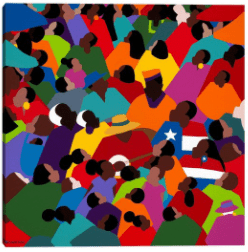 "35″"" x 35″"" Juneteenth by Synthia Saint James Canvas Art Print – Masterpiece Art Gallery"