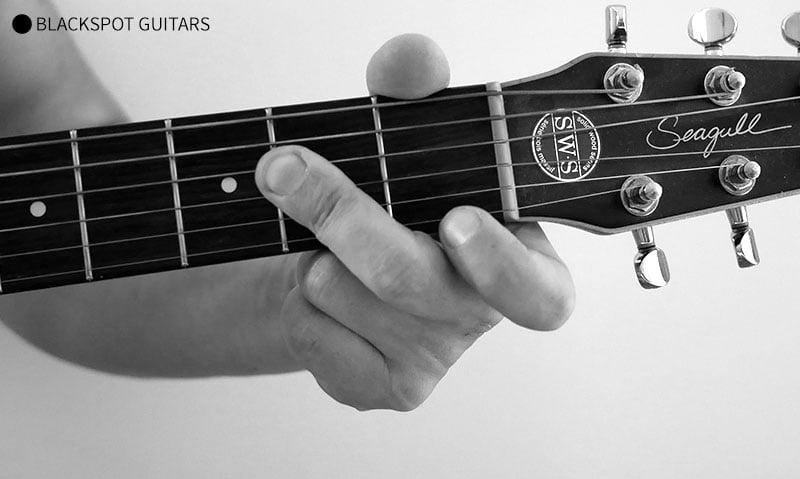A Major 2 Guitar Chord Finger Position