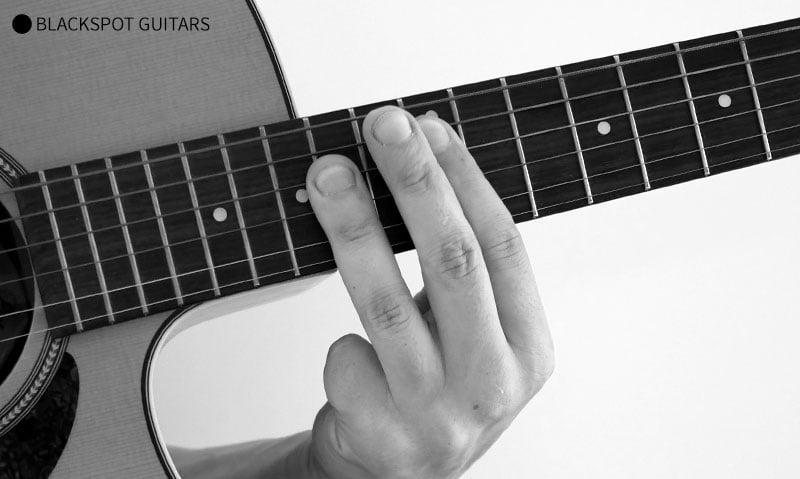 A Major Barre Guitar Chord Finger Position