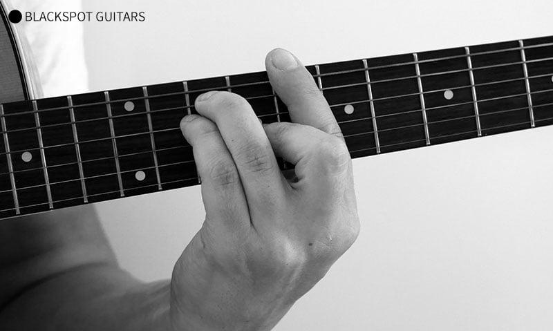 C Major Barre 2 Guitar Chord Finger Position