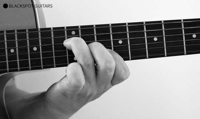 D Major 2 Guitar Chord Finger Position