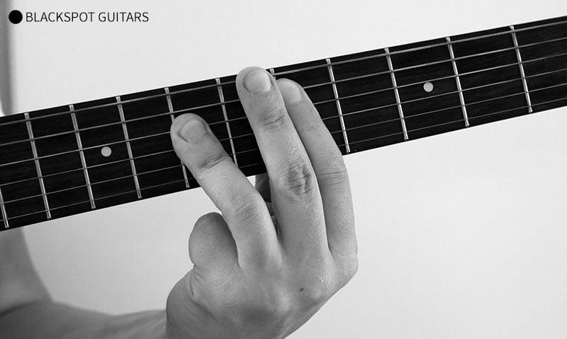 D Major Barre 2 Guitar Chord Finger Position