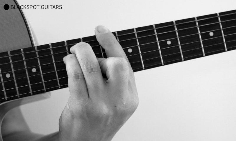D Major Barre Guitar Chord Finger Position