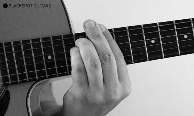 E Minor Barre Guitar Chord Finger Position