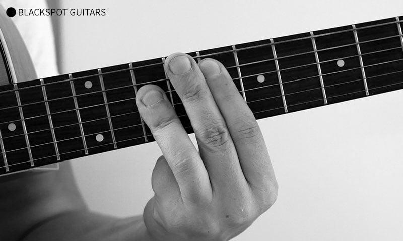 F Major Barre 2 Guitar Chord Finger Position