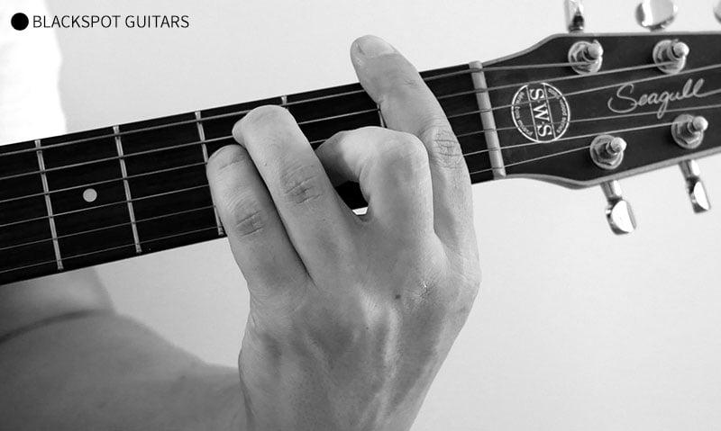 F Major Barre Guitar Chord Finger Position