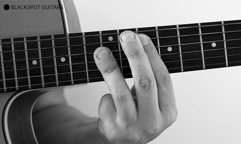 G Major Barre Guitar Chord Finger Position