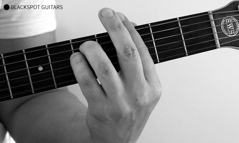 G Minor Barre 2 Guitar Chord Finger Position