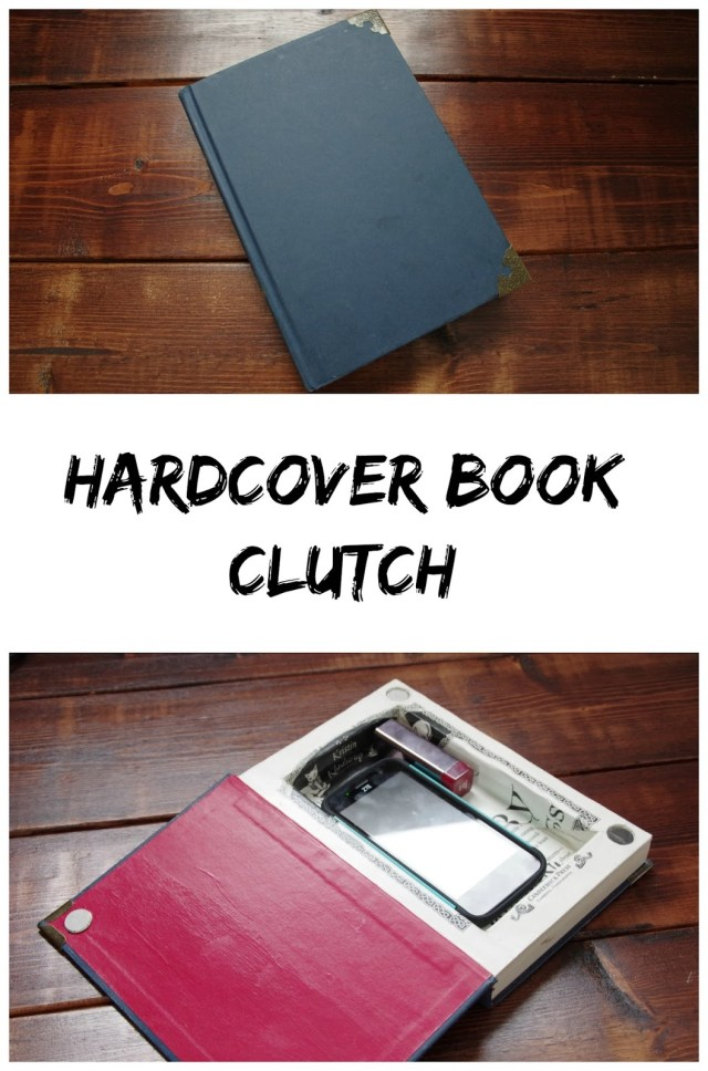 diy hardcover book clutch