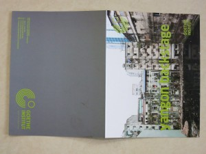 a well design exhibition pamphlet