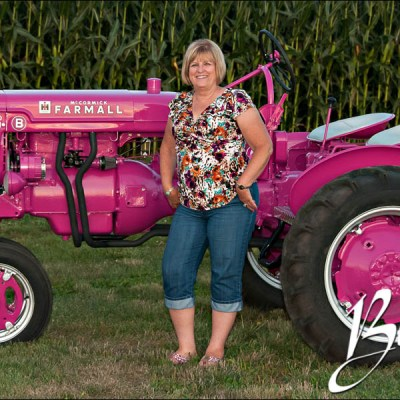 Bev and Her Very Pink Tractor