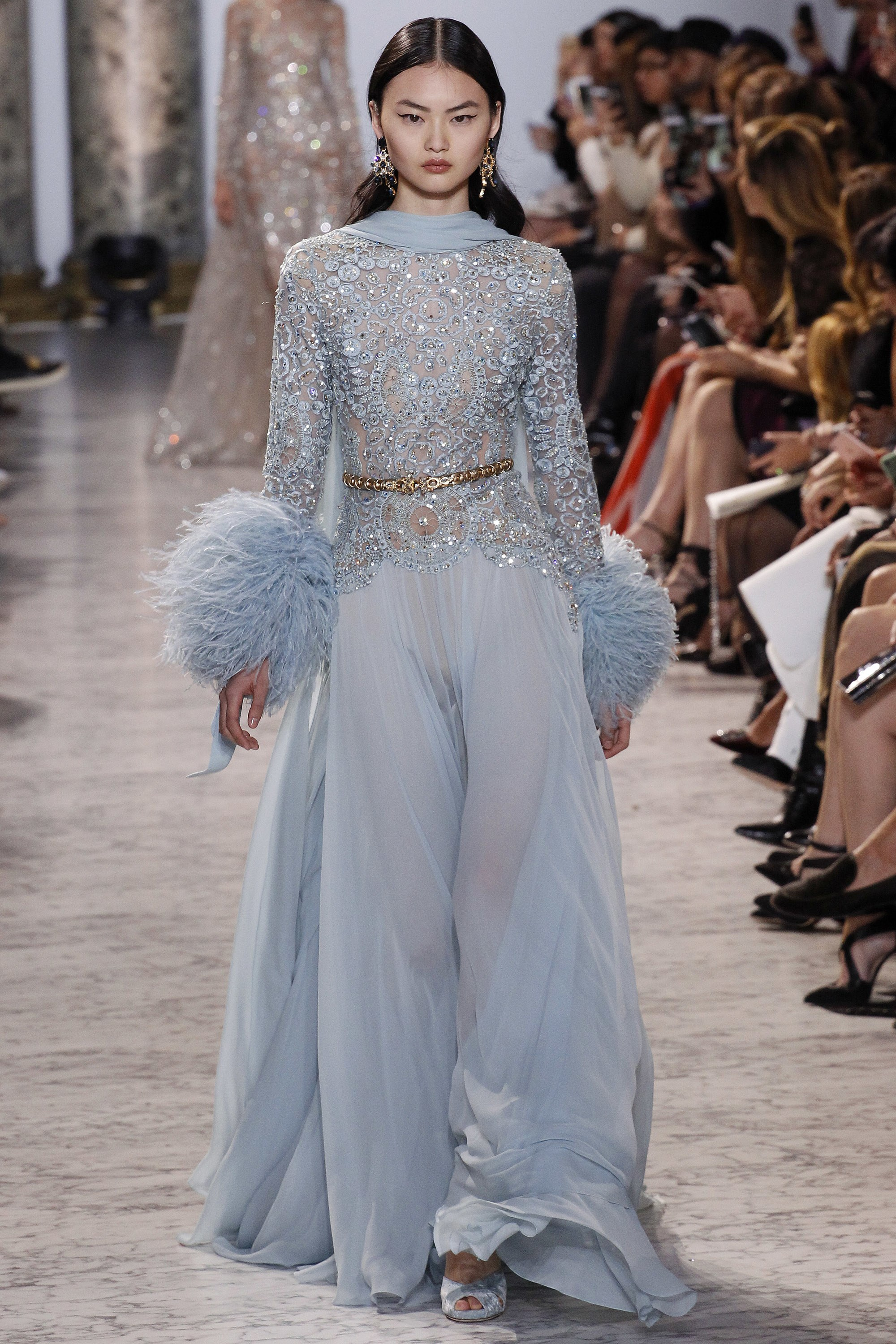 Asian Model wearing Elie Saab Collection