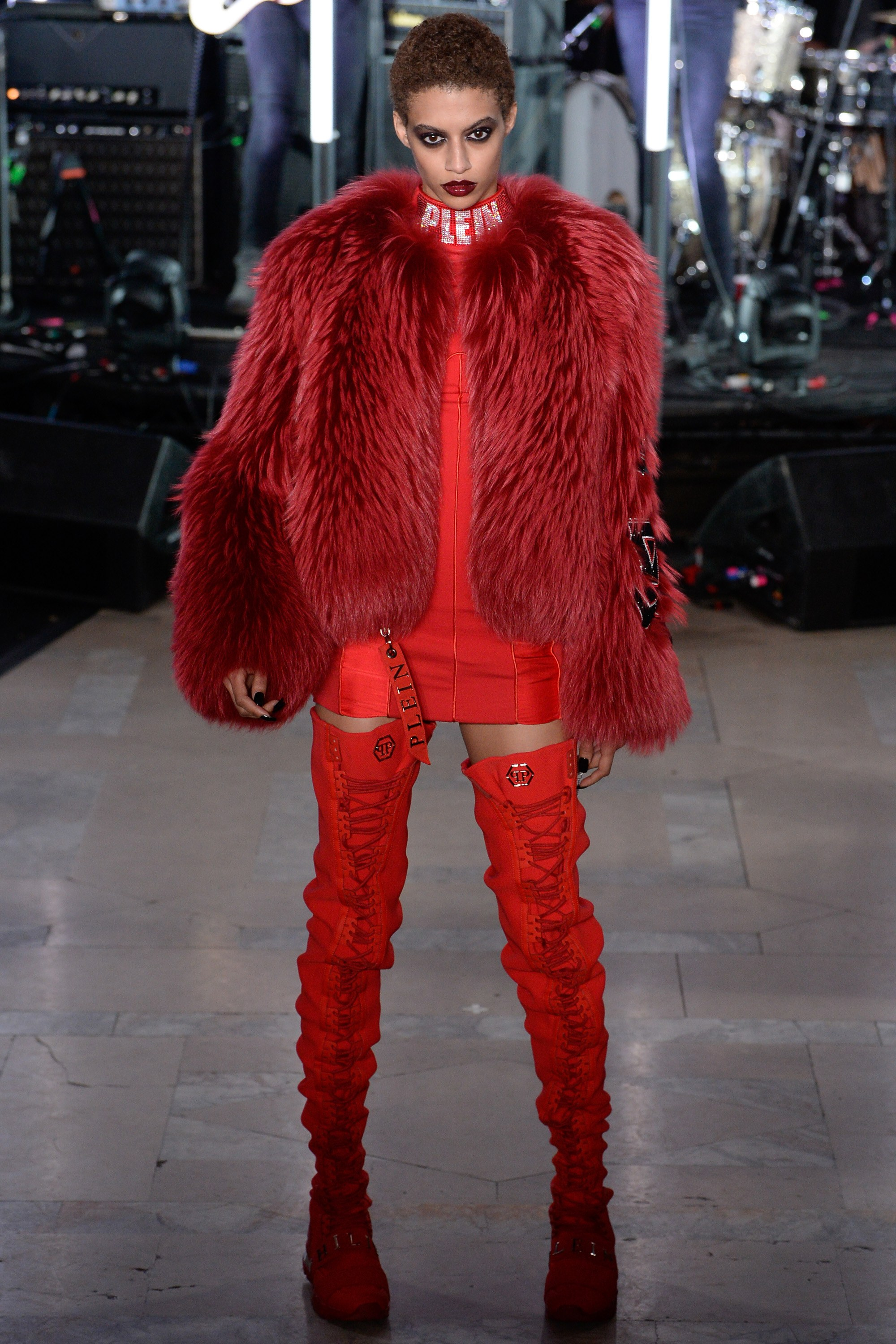 Philipp Plein Red Fur