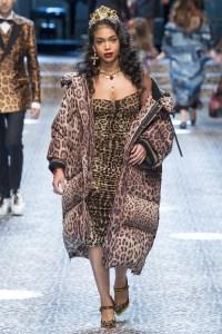 Lori Harvey at Dolce & Gabbana